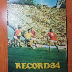 revista record 84 - martie 1984- m.lucescu,camataru,boloni,dinamo bucuresti