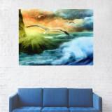 Tablou Canvas, Peisaj Artistic Pescarusi pe Mare - 40 x 50 cm