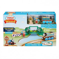 Set Jucarii Thomas And Friends Playsets Wood 5 In 1 Builder