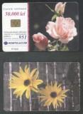 Romania 2001 Telephone card Flowers Rom 114 CT.068