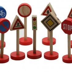 Set indicatoare rutiere lemn