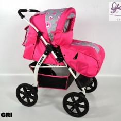 Carucior 2 in 1 Kerttu Tiger roz cu model