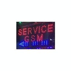 Reclama luminoasa cu led panou luminos SERVICE GSM
