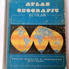 Atlas Geografic scolar vechi, anii 80, Ed Didactica si Pedagogica, Bucuresti