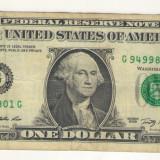 Bancnota -USD- Statele Unite ale Americii 1 Dolar $ - 2009 / A025