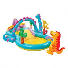 Centru de joaca tip piscina Dinoland Intex, 333 x 229 x 112 cm