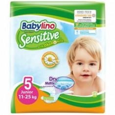 Scutece Babylino Sensitive 5 Junior, 11-25 kg, 18 Buc.