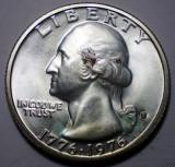 E.341 USA SUA BICENTENAR TOBOSAR QUARTER DOLLAR 1976 S ARGINTAT 5,8g, America de Nord