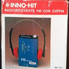 Radio portabil cu casti Inno-Hit baterii vechi vintage