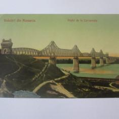 Cernavoda-Podul,carte postala circulata/reconditionata 1906