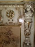 cuier Silik/tapiserie baroc venetian,lemn masiv,2mH vintage/antic