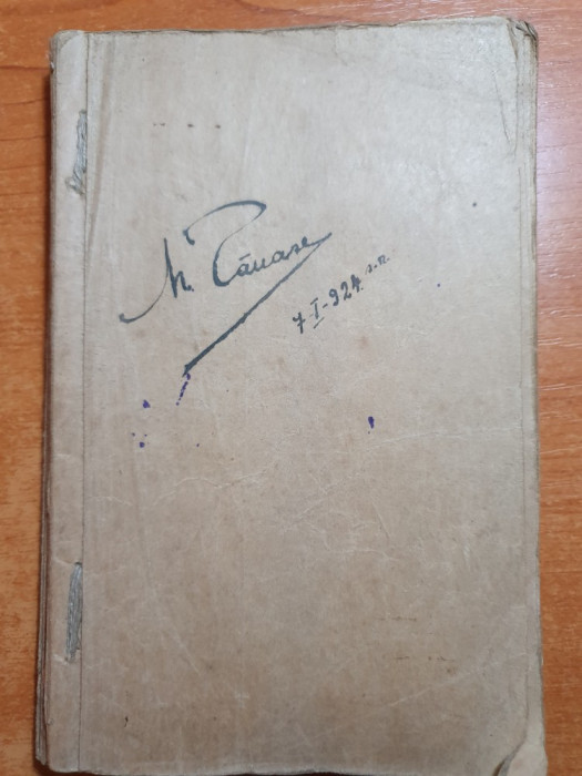 agenda manuscris 1924 - cantece militare 1919-1920,notite ,etc