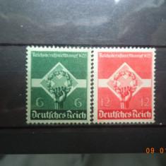 1935  Germania ( Reich ) Mi 571 - 572  Serie completa**, Nestampilat
