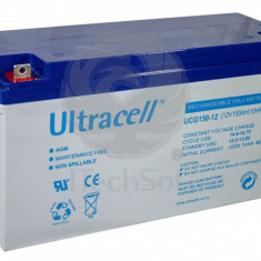 Baterie (acumulator) GEL Ultracell UCG150-12, 150Ah, 12V, deep cycle
