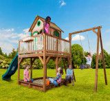 Casuta din lemn pentru copii Liam cu leagan simplu