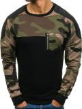 Bluză fără glugă pentru bărbat neagră Bolf 0749