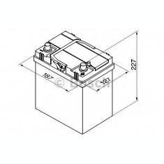 Baterie de pornire SUZUKI ALTO (HA24) (2004 - 2009) BOSCH 0 092 S40 180