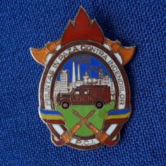 Insigna Fruntas in paza contra incendiilor - Pompieri - Varianta mare
