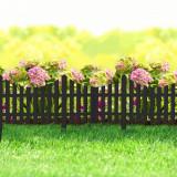 Bordura pt. pat de flori / gard - extensibil, 60 x 23 cm - Negru Best CarHome