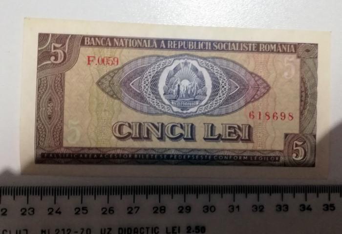 BANCNOTA 5  LEI 1966
