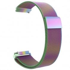 Curea metalica compatibila Huawei Watch GT, Milanese Loop, telescoape Quick Release, 22mm, Cameleon