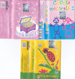 Caseta audio: Cutiuta muzicala 1, 2 si 3 ( set x3 casete originale ), Casete audio
