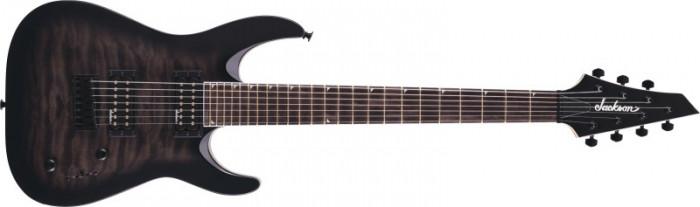 Chitara electrica Jackson JS22Q-7 DKA HT Transparent Black Burst