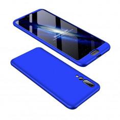 Husa Telefon Plastic Huawei P20 360 Full Cover Blue