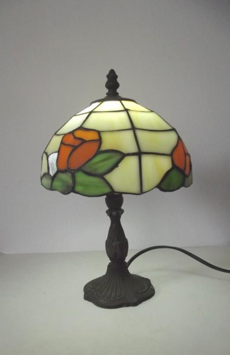 Veioza stil Tiffany , abajur vitraliu onix , lucrat manual