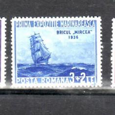 Romania 1936        Prima  Expozitie   Marinareasca   sarniera