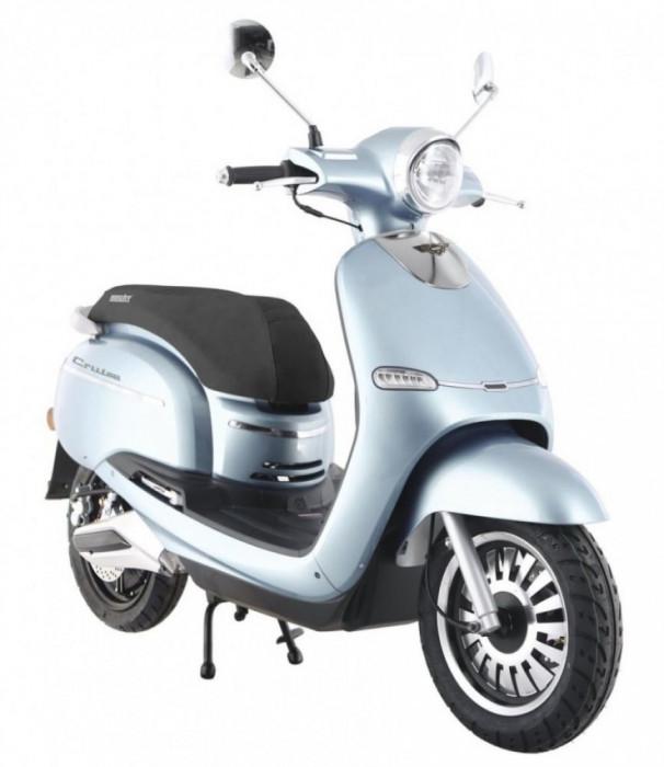 Scuter Electric, Hecht Citis, 3000 W, 45 Km / H, Argintiu/Albastru/Alb