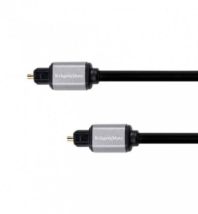 Cablu Optic Kruger&Matz Toslink - Toslink 0.5m Black