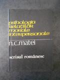 N. C. MATEI - PSIHOLOGIA RELATIILOR MORALE INTERPERSONALE