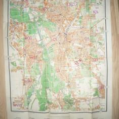Harta veche a orasului Leipzig si a Targului , dimensiuni =80x56cm