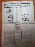program teatrul mic 1964-1965 -portretul lui caragiale ,eugen ionescu