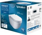 Set vas WC suspendat Duravit Starck 3 Rimless cu capac inchidere lenta