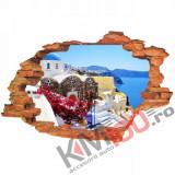 "Sticker ""Wall Crack"" Santorini 5 - 120 x 80 cm"