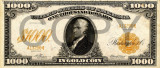 1000 dolari 1907 Reproducere Bancnota USD  ,   Dimensiune reala 1:1