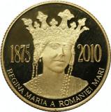 Moneda Romania 100 Lei 2010 - PROOF ( Regina Maria - 135 ani nastere - aur )