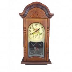 Ceas de Perete din Lemn cu Pendul? Circle Moon TX-1302