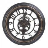 Ceas de perete decor din plastic Black Gold 50 cm