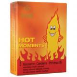 Prezervative cu Incalzire Hot Amor 3 buc.