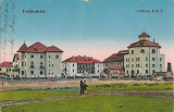 Carte postala Techirghiol - Clădirile P. T. T. interbelica