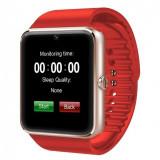 Cumpara ieftin Ceas Smartwatch cu Telefon iUni GT08, Bluetooth, Camera 1.3 MP, Ecran LCD antizgarieturi, Red