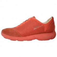 Adidasi dama, din textil si piele, Geox, D641EG-C7012-11, orange