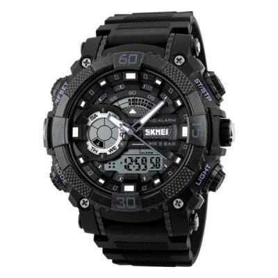 Ceas Barbatesc SKMEI CS877, curea silicon, digital watch, functie cronometru, alarma foto