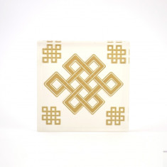Placheta ( placa ) cu nod mistic pe sticla volumetrica