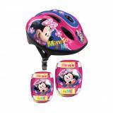 Set de accesorii protectie si casca Disney Minnie Mouse, S
