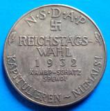 1932 Adolf Hitler NSDAP Reichstags Wahl  36mm, Europa