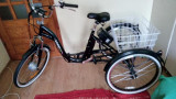 Tricicleta electrica adulti pliabila 24 toli 6 viteze tip shopper- NOU, 16.5